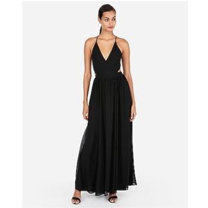 Strappy Lace-Up Cut-Out Maxi Dress